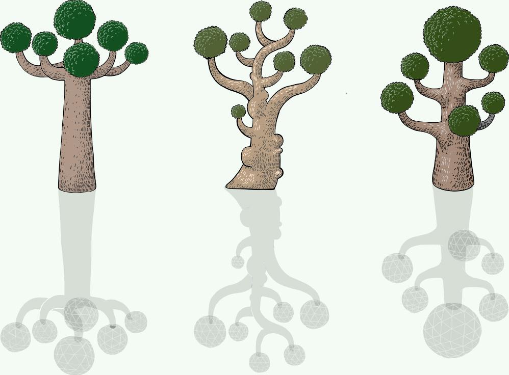 la foresta degli ecommerce, illustrazione